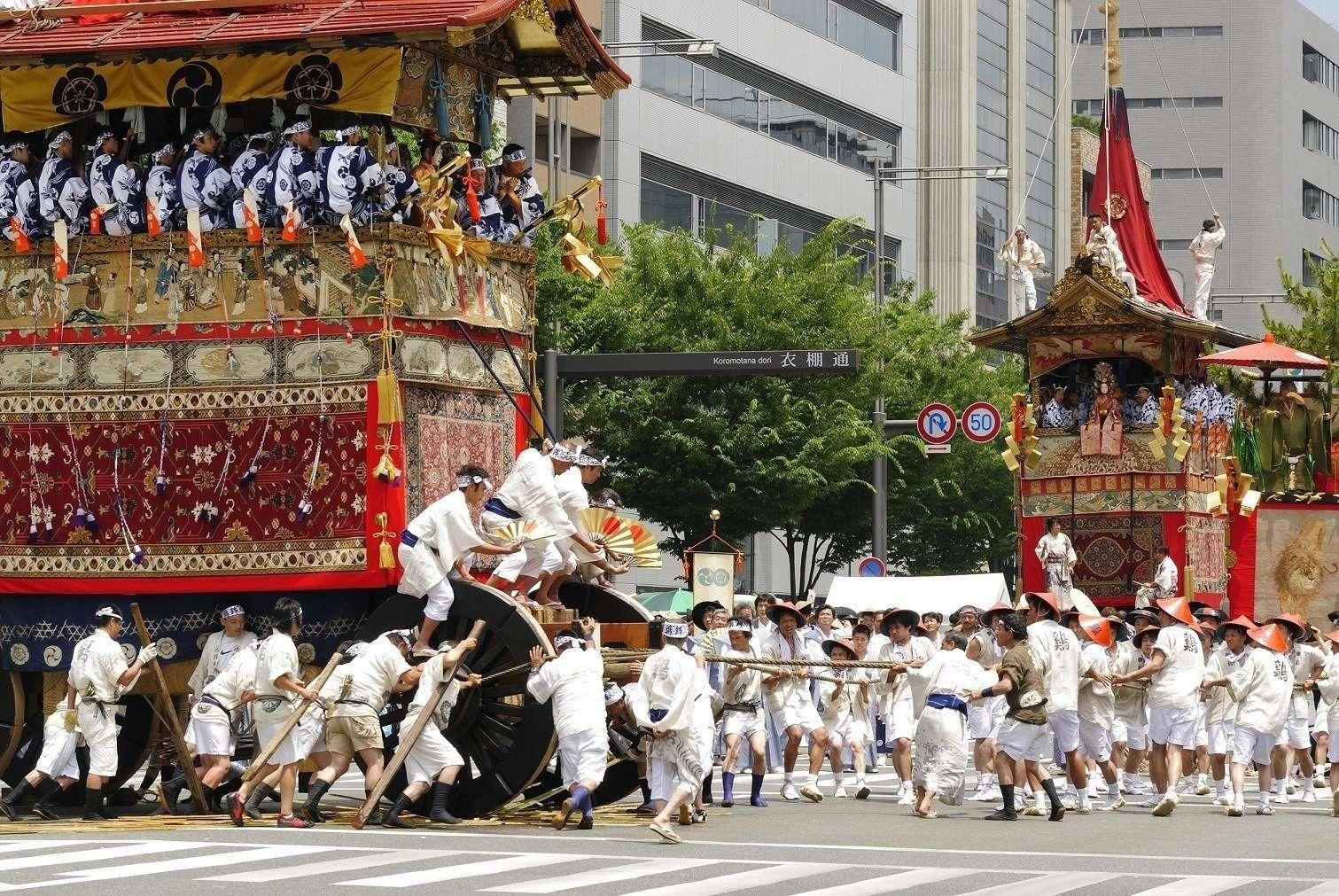 Gion Martsuri Festival in Kyoto Japan