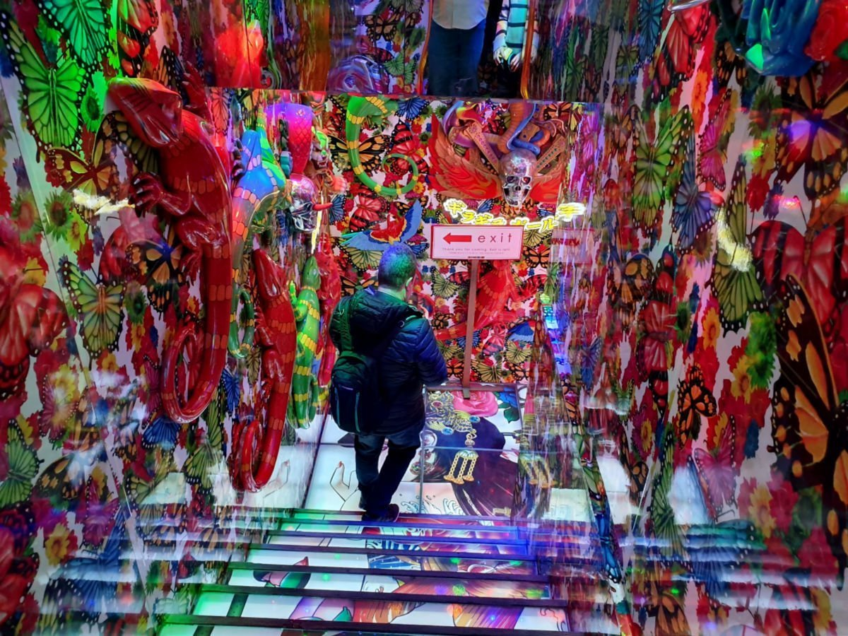 Heading downstairs to the Robot Restaurant Main Show Room