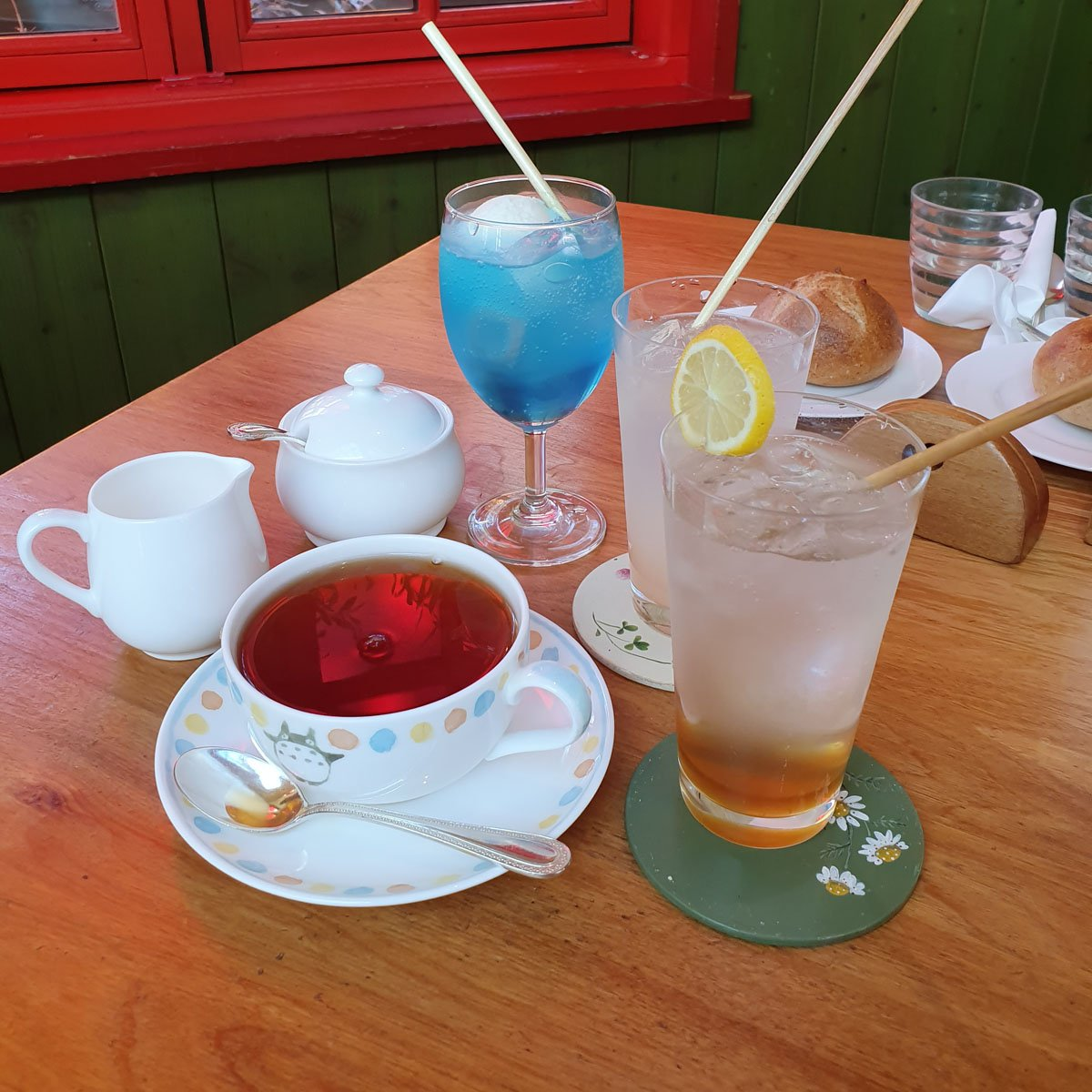 Our selection of drinks from Ghibli Cafe