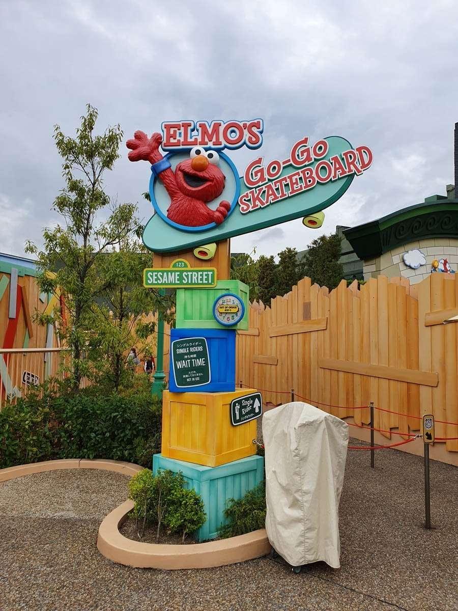 Elmo's Go Go Skateboard