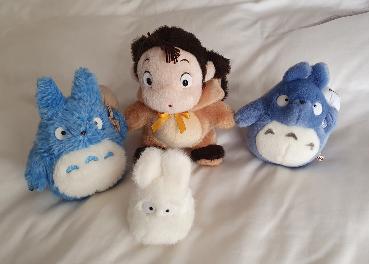 Part of our children's Ghibli plushie collection