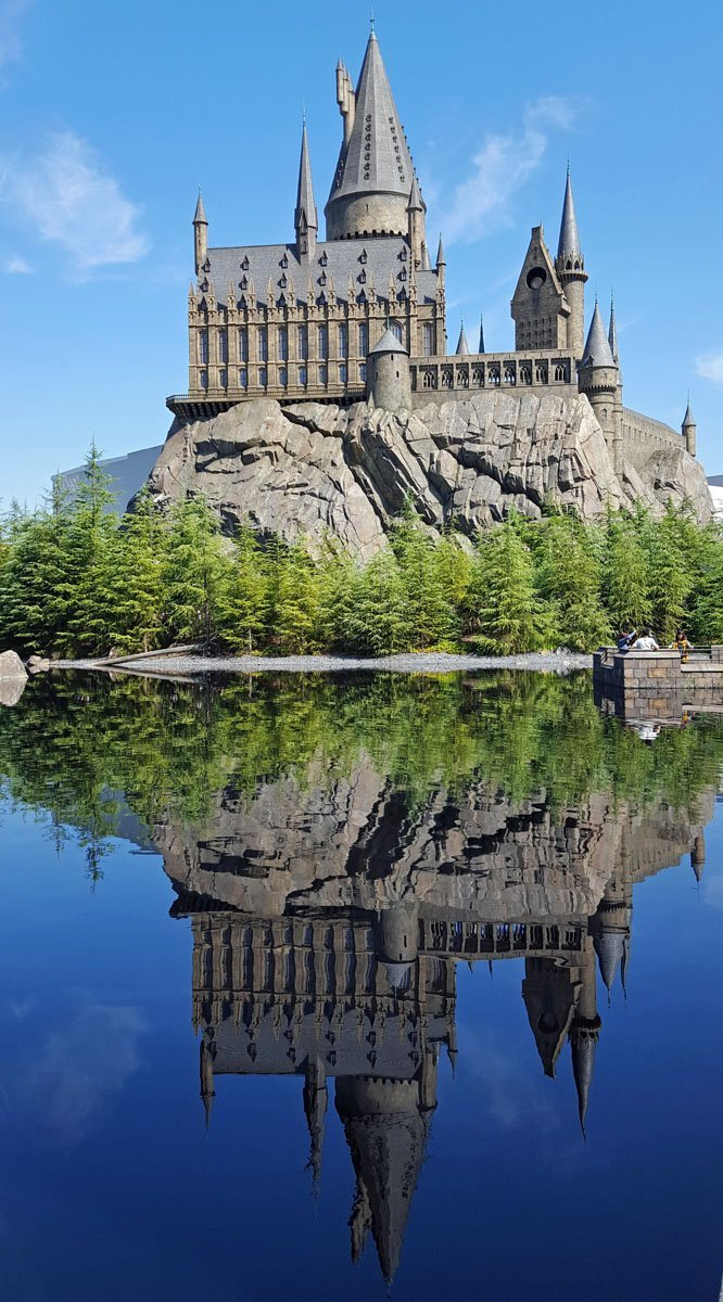 Hogwarts Reflected in the Black Lake