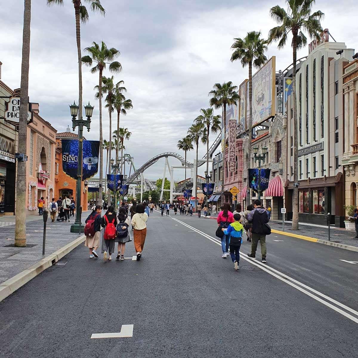 Looking down Hollywood Boulevard